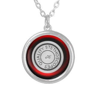 Vermelho do estetoscópio da qualidade bijuterias