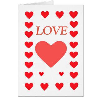 Vermelho do feliz dia dos namorados, amor, cartão