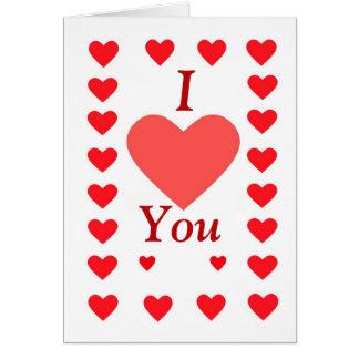 Vermelho do feliz dia dos namorados, eu te amo, cartão comemorativo