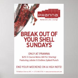 Vermelho do isqueiro de Pranna domingos Posteres