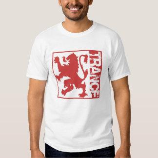Vermelho do leão do Trance Camiseta
