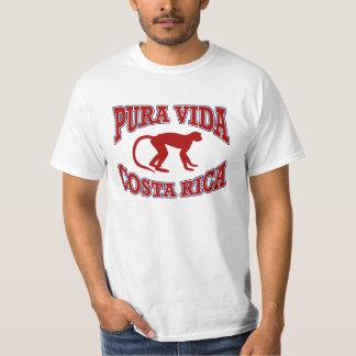 Vermelho do macaco de Vida Costa Rica Camiseta