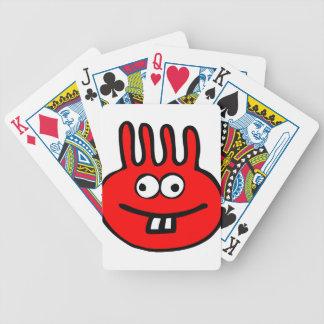 Vermelho do monstro de Floatie Baralhos Para Poker