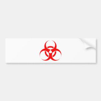 Vermelho do símbolo do Biohazard Adesivo Para Carro