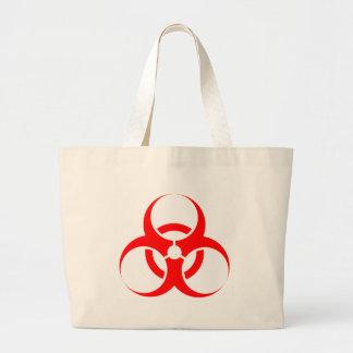 Vermelho do símbolo do Biohazard Bolsas