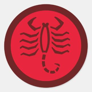Vermelho do sinal do zodíaco da Escorpião Adesivo