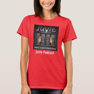 vermelho do t-shirt do logotipo do juvie camiseta