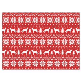 Vermelho do teste padrão do Natal dos Retrievers Papel De Seda