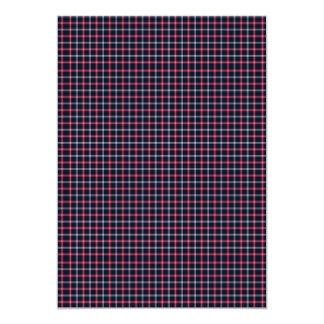 Vermelho e branco tradicionais do preto da xadrez convite 12.7 x 17.78cm