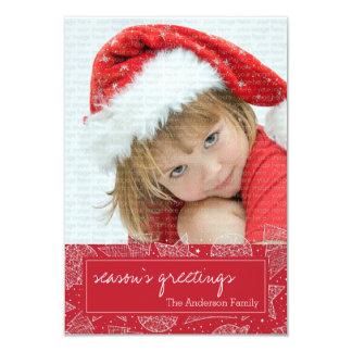 Vermelho e cartão com fotos do feriado do White Convite Personalizados