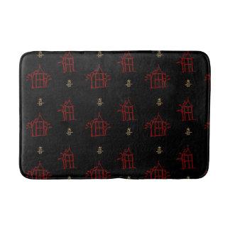 Vermelho e esteira de banho do Chinoiserie dos Tapete De Banheiro