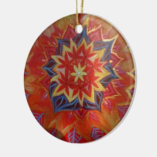 Vermelho e ouro do ornamento do círculo da mandala