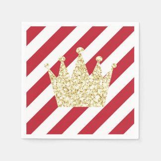 Vermelho e príncipe Coroa Guardanapo do ouro