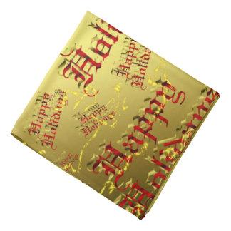 vermelho em bandanas felizes do feriado do ouro