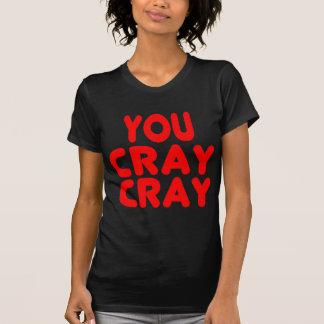 Vermelho engraçado de Memes do Internet de Cray Tshirt
