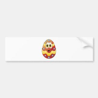 Vermelho engraçado do ovo da páscoa adesivo para carro