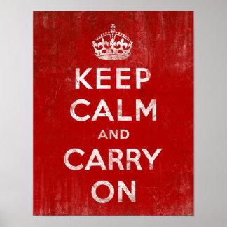 Posters de Keep Calm na Zazzle
