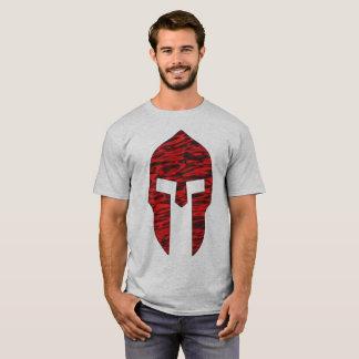 Vermelho espartano camiseta