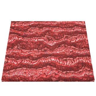 vermelho estrangeiro da pele impressão em tela
