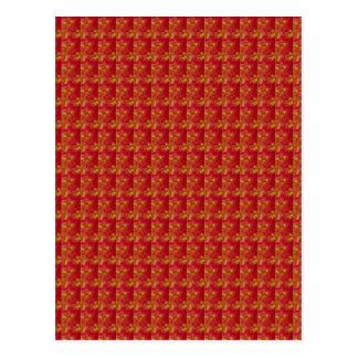 Vermelho exótico capturado da flor: Arte por NAVIN Cartão Postal