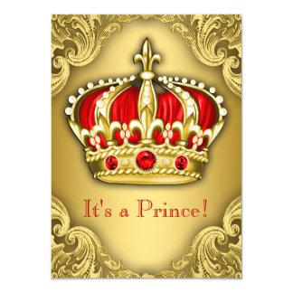 Vermelho extravagante e ouro do príncipe chá de
