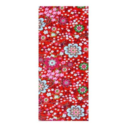 vermelho floral do fundo do em do padrão convites