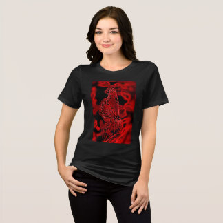 vermelho gráfico da camisa da borboleta T