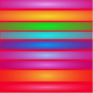 Vermelho horizontal da arte das listras esculturafotos