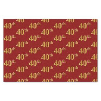 Vermelho, lenço de papel do evento do ouro 40th do