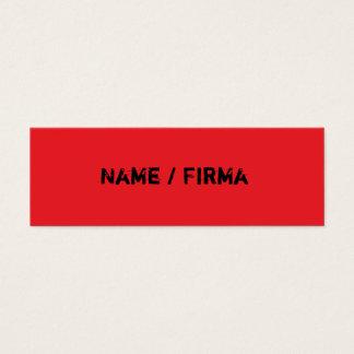 vermelho - mini cartões de presentação