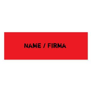 vermelho - mini cartões de presentação cartão de visita skinny
