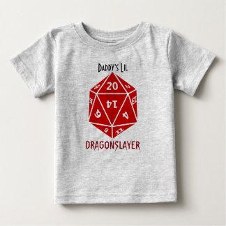 Vermelho morre o roupa impressionante do geek camiseta para bebê