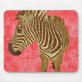 Vermelho Mousepad da zebra do vintage