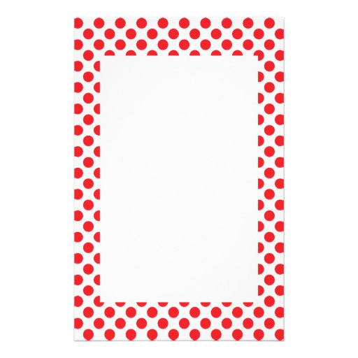 Vermelho nas bolinhas brancas papel personalizado