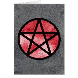 Vermelho no cartão preto do Pentacle