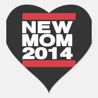 Vermelho novo da mamã 2014 adesivo coração