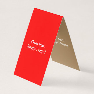 Vermelho-Ouro dobrado cartão de visita da barraca
