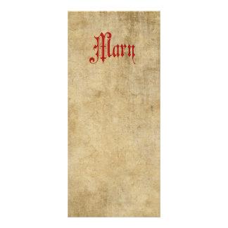 Vermelho personalizado de Mary do pergaminho de 10.16 X 22.86cm Panfleto