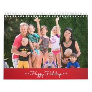 Vermelho personalizado do calendário boas festas