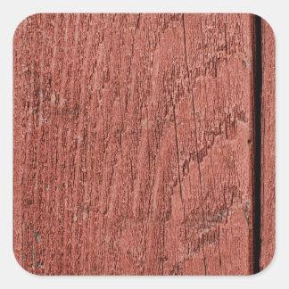 Vermelho pintado de madeira adesivo quadrado