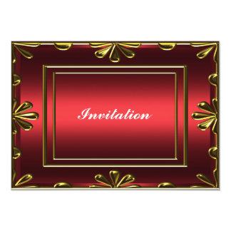 Vermelho popular da festa de aniversário de convite 12.7 x 17.78cm