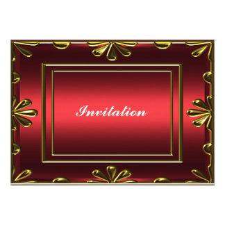 Vermelho popular da festa de aniversário de mulher convite personalizados