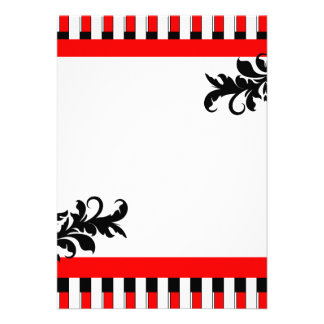 Vermelho-Preto & branco listra o convite