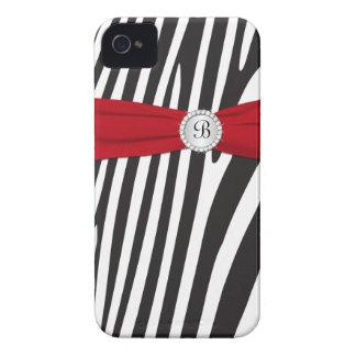 Vermelho, preto, caixa corajosa de Blackberry da Capinhas iPhone 4