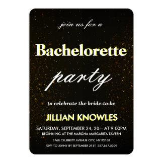 Vermelho preto escovado Bachelorette do ouro dos Convite 12.7 X 17.78cm