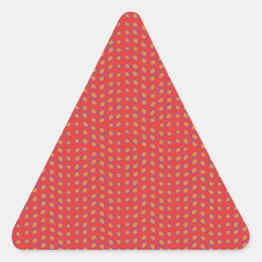 Vermelho quente dos pontos de Geo Adesivo Triângulo