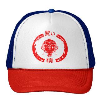 Vermelho sábio do design do macaco boné