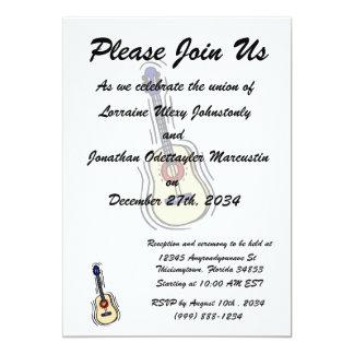 vermelho simples acústico blue.png da guitarra convite personalizados