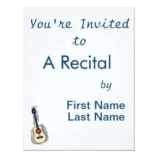 vermelho simples acústico blue.png da guitarra convite personalizado