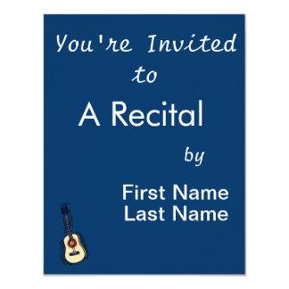 vermelho simples acústico blue.png da guitarra convite 10.79 x 13.97cm